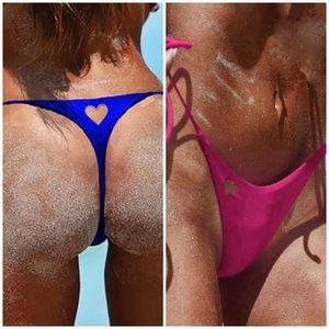 Other - Restocked Heart Cutout Thong Bikini Bottom